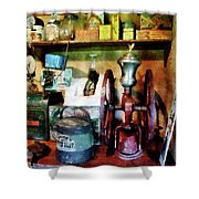 Old-fashioned Coffee Grinder Shower Curtain