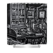 Old Fashioned Doctor's Office Bw Shower Curtain