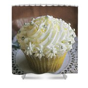 Old Fashioned Lemon Cupcake Shower Curtain