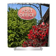 Old Fashioned Post Office Sign Shower Curtain