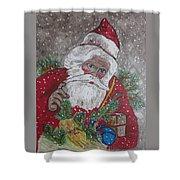 Old Fashioned Santa Shower Curtain