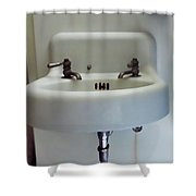 Old Fashioned Sink At The Landmark In Des Moines Washington Shower Curtain