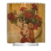 Old Fashioned St Nick Shower Curtain
