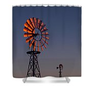 Old Fashioned Wind Mill Shower Curtain
