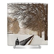 Old Fashioned Winter Shower Curtain