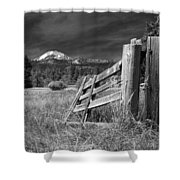 Old Fence At Mount Lassen Shower Curtain