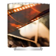 Old Film Strip And Photos Background Shower Curtain by Michal Bednarek