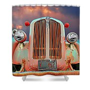 Old Firefighter Shower Curtain