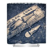 Old Fishing Lures Shower Curtain