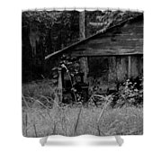 Old Fishing Shed Shower Curtain