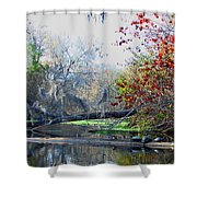 Old Florida Along The Sante Fe River Shower Curtain