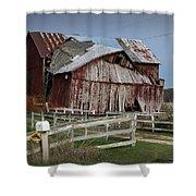 Old Forlorn Decrepid Wooden Barn Shower Curtain