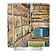 Old Fort Interior Room Shower Curtain
