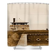Old Fort Niagara North Redoubt Shower Curtain