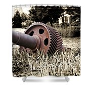 Old Foundry Gear Shower Curtain