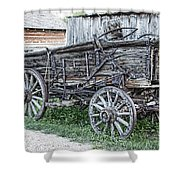 Old Freight Wagon - Montana Territory Shower Curtain