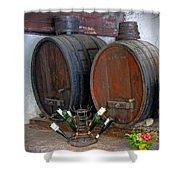 Old French Wine Casks Shower Curtain