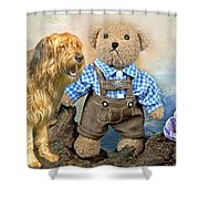 Old Friends On Tour Shower Curtain