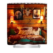 Old Frontier Cabin Shower Curtain