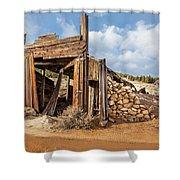 Old Garage  Shower Curtain