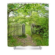 Old Garden Gate Shower Curtain