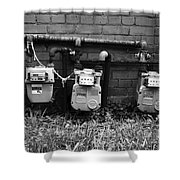 Old Gas Meters Shower Curtain