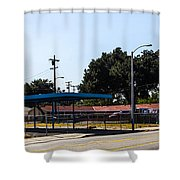 Old Gas Station Shower Curtain