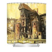 Old Gdansk - The Crane Shower Curtain