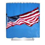 Old Glory - American Flag By Sharon Cummings Shower Curtain