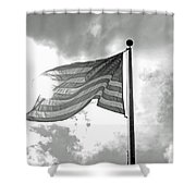 Old Glory Bw Shower Curtain