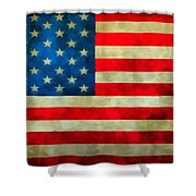 Old Glory Shower Curtain by Dan Sproul