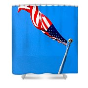 Old Glory Hdr Shower Curtain
