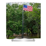 Old Glory High And Proud Shower Curtain