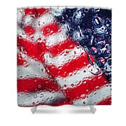 Old Glory Impression Shower Curtain