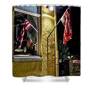 Old Glory Reflected Shower Curtain