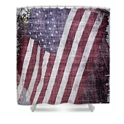 Old Glory Rustic Shower Curtain