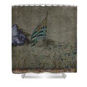Old Glory Standoff Shower Curtain