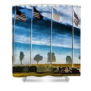 Old Glory-the American Flag Shower Curtain by Luther Fine Art
