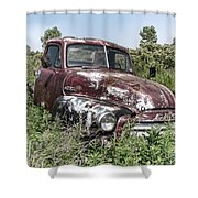 Old Gmc Truck Shower Curtain