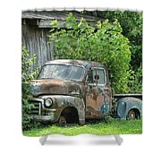 Old Gmc Shower Curtain