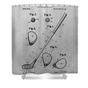 Old Golf Club Patent Illustration Shower Curtain