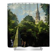 Old Granery Burying Ground Shower Curtain
