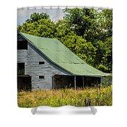 Old Gray Barn Shower Curtain