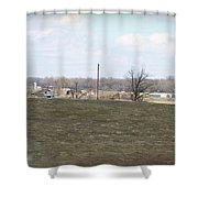 Old Gray Shed On The Hill Shower Curtain