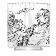 Old Guys  Shower Curtain