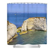 Old Harry Rocks - Purbeck Shower Curtain