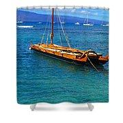 Old Hawaiian Sailboat Shower Curtain
