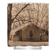 Old Hay Barn Shower Curtain
