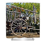 Old Hay Wagon Shower Curtain