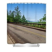 Old Highway And Forest Shower Curtain